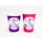 Чашки едноцветни в лилаво с декор Принцеса София | 102PODARAKA.COM