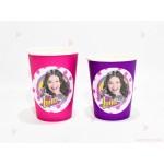 Чашки едноцветни в розово с декор Сой Луна 2 | 102PODARAKA.COM