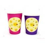 Чашки едноцветни в лилаво с декор Усмивки / Emoji | 102PODARAKA.COM