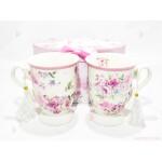 Две чаши с декор цветя в подаръчна кутия 2 | 102PODARAKA.COM