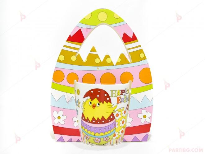 "Чаша с пиленце и надпис ""Happy Easter"" - великденски декор   102PODARAKA.COM"