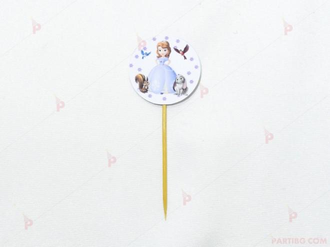 Топер за кексче/мъфин с декор Принцеса София | PARTIBG.COM