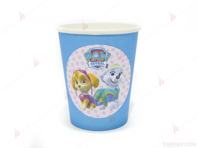 Чашки едноцветни в синьо с декор Пес Патрул / Paw Patrol-Скай и Еверест   102PODARAKA.COM