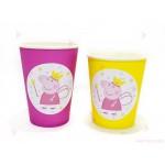 Чашки едноцветни в розово с декор Пепа пиг / Peppa pig 2 | 102PODARAKA.COM