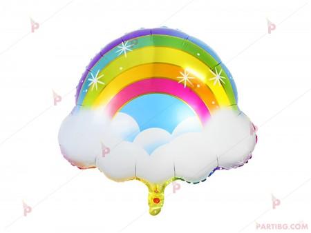Фолиев балон дъга с облаци