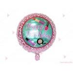 "Фолиев балон кръгъл ""Happy Birthday"" 3 | 102PODARAKA.COM"