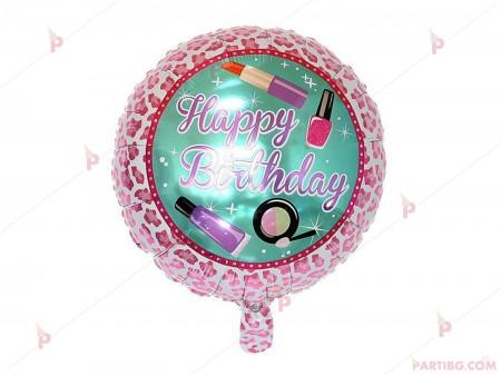 "Фолиев балон кръгъл ""Happy Birthday"" 3"