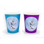 Чашки едноцветни в лилаво с декор Олаф / Frozen | 102PODARAKA.COM