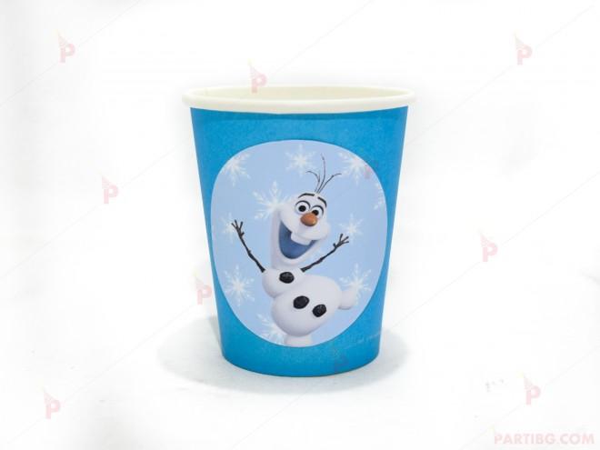 Чашки едноцветни в синьо с декор Олаф / Frozen   102PODARAKA.COM