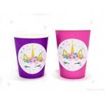 Чашки едноцветни в лилаво с декор Еднорог / Unicorn 3   102PODARAKA.COM